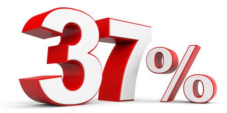 price hit: Discount 37 percent off. 3D illustration.