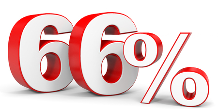 price hit: Discount 66 percent off. 3D illustration. Stock Photo