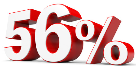 price hit: Discount 56 percent off. 3D illustration. Stock Photo