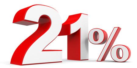 Discount 21 percent off. 3D illustration.