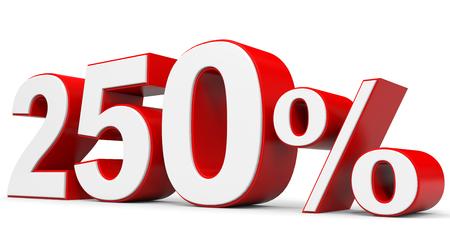 price hit: Discount 250 percent off. 3D illustration.