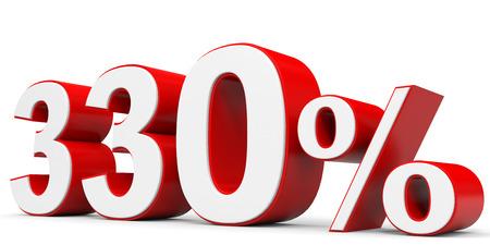 price hit: Discount 330 percent off. 3D illustration. Stock Photo