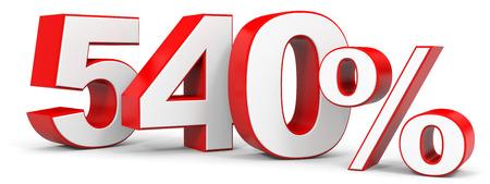 price hit: Discount 540 percent off. 3D illustration. Stock Photo