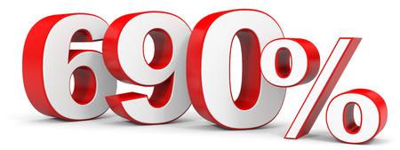 price hit: Discount 690 percent off. 3D illustration.