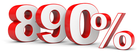 price hit: Discount 890 percent off. 3D illustration.