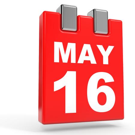16: May 16. Calendar on white background. 3D illustration. Stock Photo