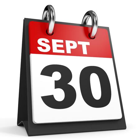17 De Septiembre De Calendario En El Fondo Blanco. Ilustración 3D ...