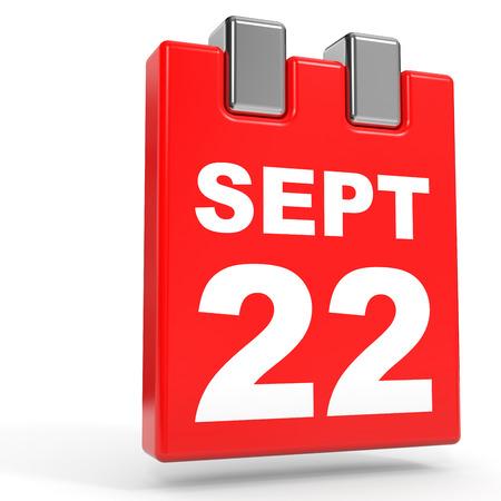 2 months: September 22. Calendar on white background. 3D illustration.