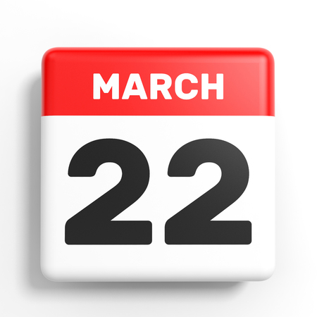 2 months: March 22. Calendar on white background. 3D illustration. Stock Photo