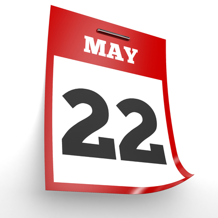 2 months: May 22. Calendar on white background. 3D illustration. Stock Photo