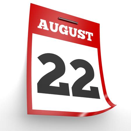 2 months: August 22. Calendar on white background. 3D illustration. Stock Photo