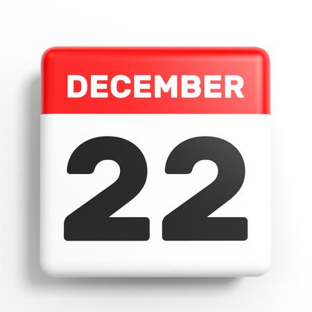 2 months: December 22. Calendar on white background. 3D illustration.