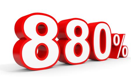 Eight hundred and eighty percent. 880 %. 3d illustration on white background. Reklamní fotografie