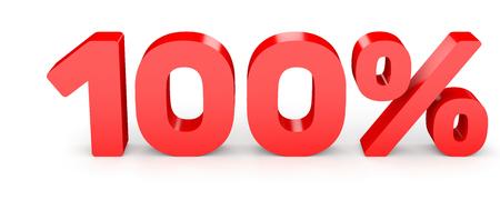 One hundred percent off. Discount 100 %. 3D illustration on white background. 版權商用圖片