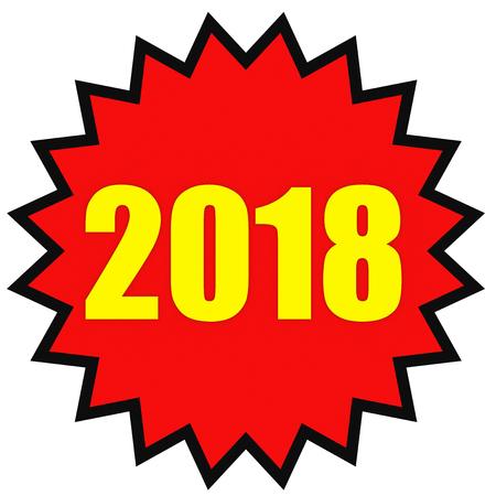 2018 New Year. Star. 3D illustration.