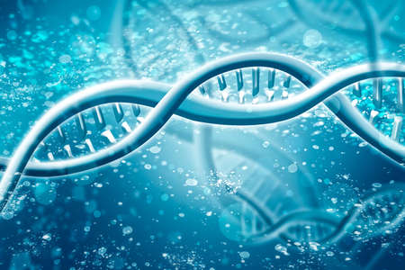 Double Helix DNA Chain brilliant. Concept of science, medicine and research