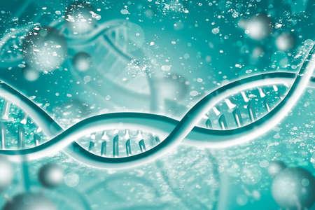 Double Helix DNA Chain brilliant. Concept of science, medicine and research Foto de archivo
