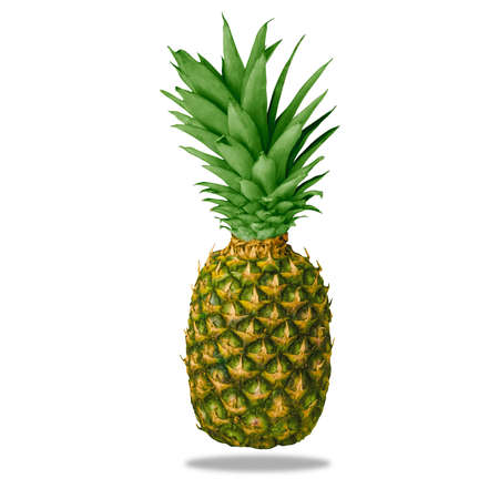 Clean and isolate pineapple on a white background as a resource. High-resolution image Archivio Fotografico