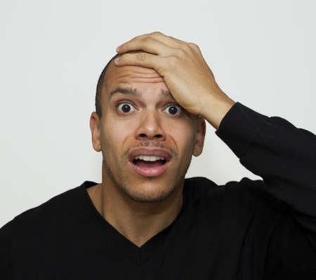 surprised face: Panic