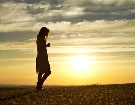 thoughtful: Sunset Woman