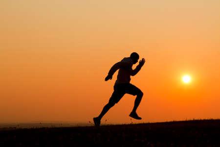 sprinting: Sunset Sprinting
