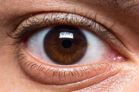 considerably: Macro eye shot of a young male Stock Photo