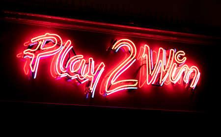 venue: Neon sign highlighting a gambling venue