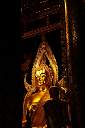 Phra Buddha Chinnaraj  The important buddha in Phitsanulok province, Thailand photo