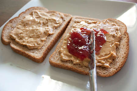 peanut butter and jelly: Peanut Butter   Jelly Stock Photo