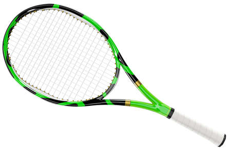 tennis racket: Tennis racket textured isolated on white background Stock Photo