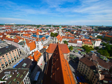 Aerial of Munich city, Germany photo