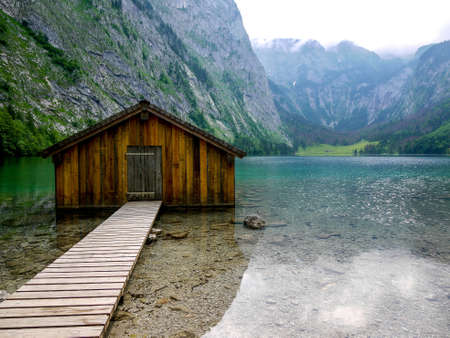 boathouse: Boathouse at Obersee lake, Berchtesgaden, Germany