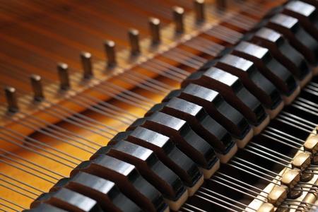 Genre sur un piano à queue de l'intérieur Banque d'images