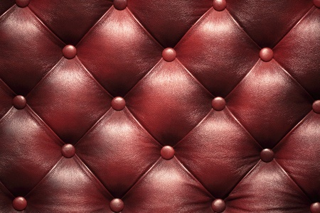 Leather upholstery of a magnificent sofa