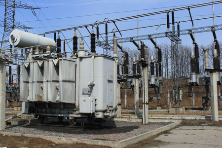electrify: Electric main and big high-voltage transformer
