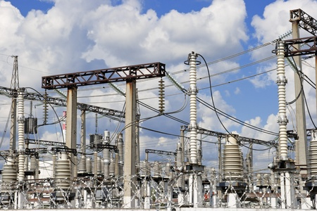 electrify: Electric main and unusual insulators on it