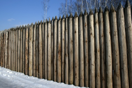 gad: The fence of acute pine logs