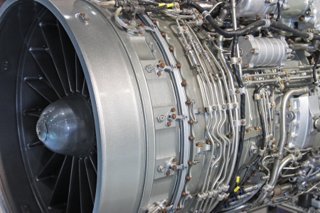 Detailed exposure of a turbo jet engine