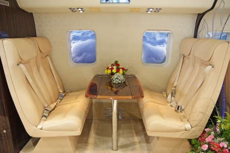 Salon of expensive helicopter class business Stock Photo - 21969340