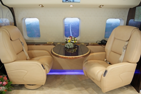 Salon of expensive helicopter class business Stock Photo - 21969341