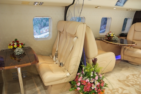 Salon of expensive helicopter class business Stock Photo - 21969342
