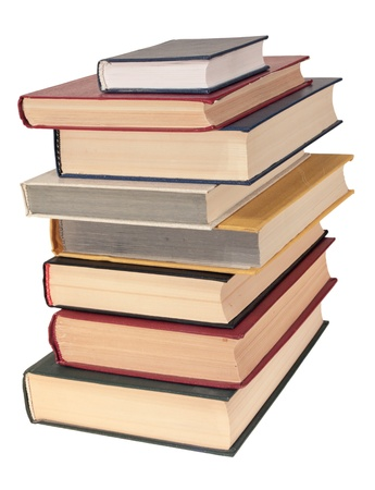Pile of books, isolated on a white background