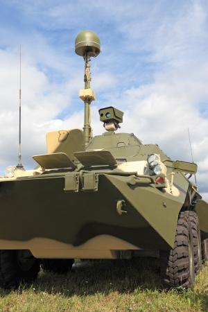 night vision: Armoured troop-carrier with a radar and the device of night vision