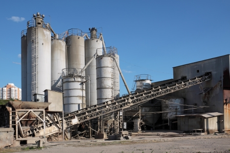depository: Cement works and its silos
