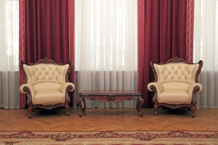 Fragment of a magnificent room with ped furniture Stock Photo - 22035582