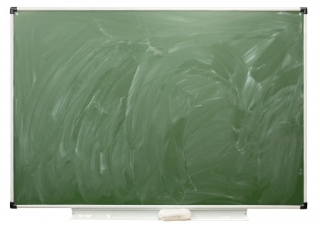 sordid: Empty school board, isolated on the white