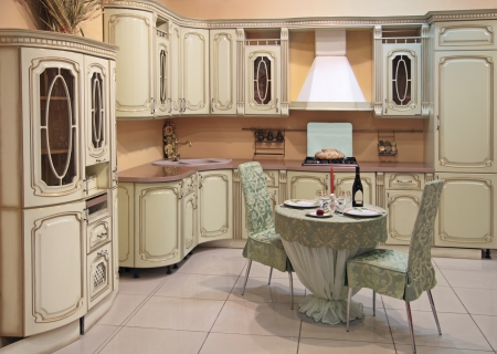 luxuriant: Interior of modern kitchen in classical style