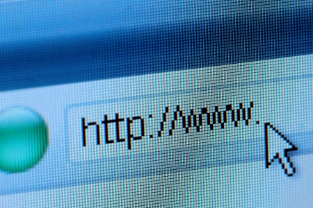 Business and technology: internet url with some copy space photo