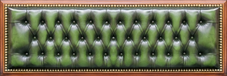 Leather back of a magnificent sofa, isolated