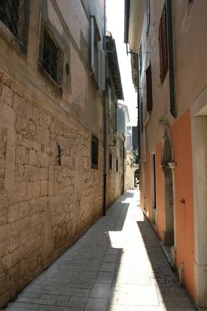 narrowly: Very narrow street in the Croatian city